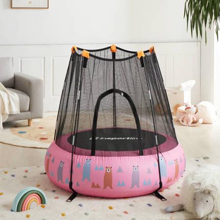 Trampolina dla dzieci pompowana z siatką Nufino 120 cm Insportline różowa