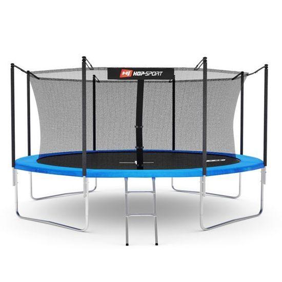 Trampolina ogrodowa 12ft (366cm) z siatką wewnętrzną Hop-Sport - 4 nogi