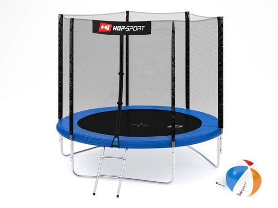 Trampolina ogrodowa 8ft (244cm) z siatką zewnętrzną Hop-Sport -3 nogi